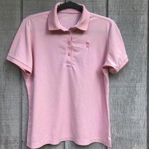 3/$20 Lady Hagen Breast Cancer Ribbon Golf Shirt